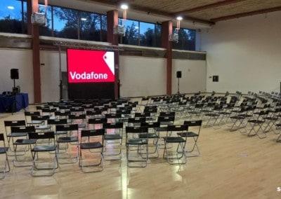 Allestimento audiovisivo per meeting interno Vodafone