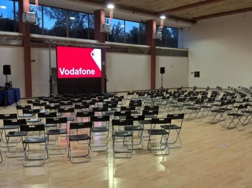 Allestimento audiovisivo per meeting interno Vodafone
